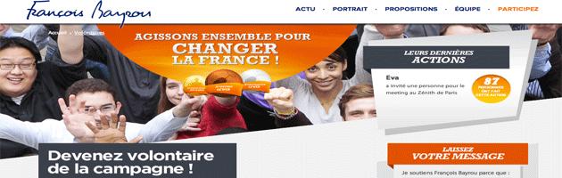 Les «Volontaires» de François Bayrou : communiquer par le jeu en mobilisant ses sympathisants