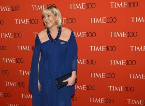 La présidente du Front national au Gala du Time Magazine, le 21 avril 2015, à New York. (Photo Timothy A. Clary. AFP)
