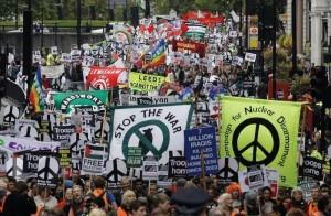 ©26 Octobre 2009, Londres : Manifestation massive pour le retour des troupes britanniques