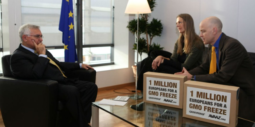 Loin des caméras : des lobbyistes de Greenpeace dans les bureaux de la Commission européenne (Source : http://www.greenpeace.org/belgium/fr/G-Mag/Gmag-05/A-labri-des-cameras/)