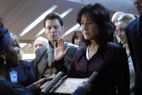 Laura Roslin, personnage central de la série Battlestar Galactica