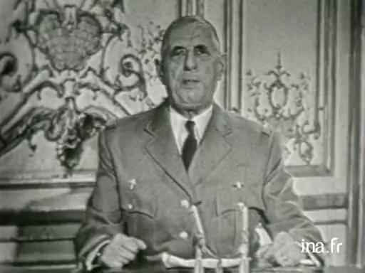 Intervention du 23 avril 1961 du Général de Gaulle suite au putsch des Généraux
