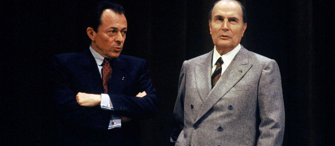 Michel Rocard aux cotés de François Mitterrand, Président de la République Française.