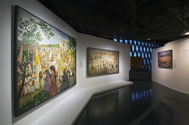 """vue de l'exposition """"Peinture des lointains"""""""