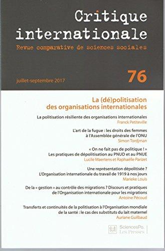 couverture du n° 76 de la revue Critique internationale