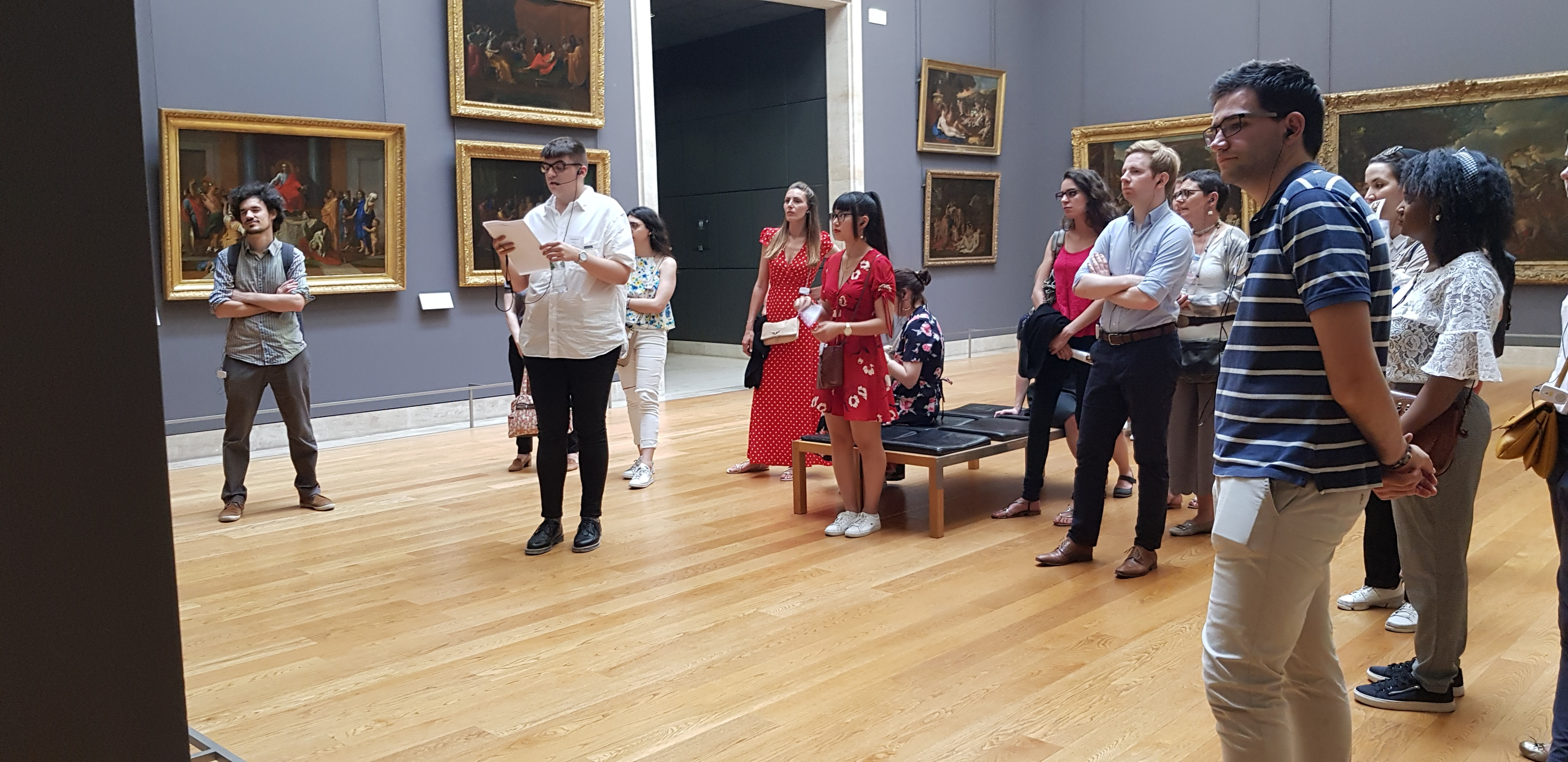 Musée du Louvre, 29 juin 2018, devant les tableaux de Claude Gellée (photo Sara Natij)