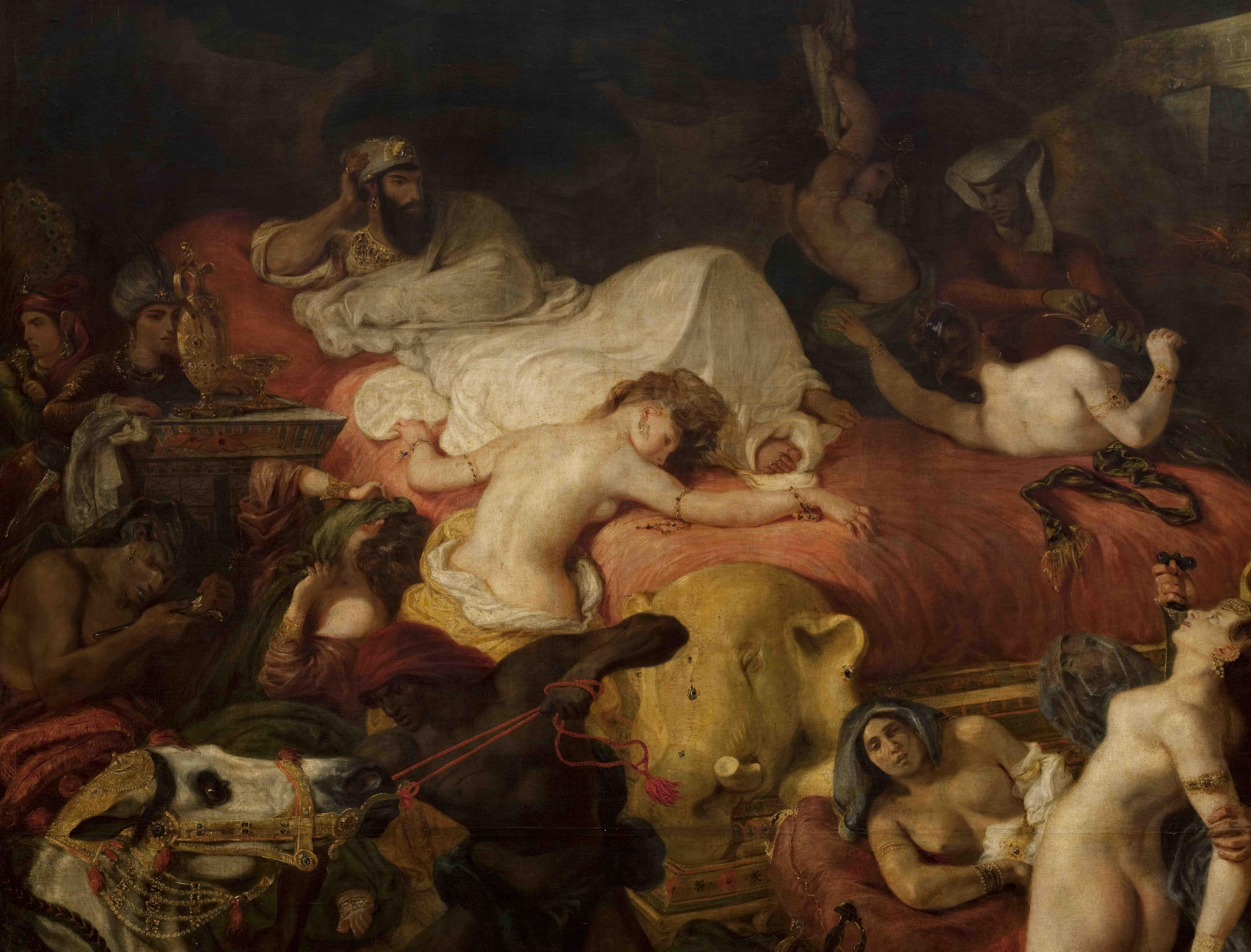 Eugène Delacroix, Mort de Sardanapale (détail) © Musée du Louvre, dist. RMN-GP/ Angèle Dequier