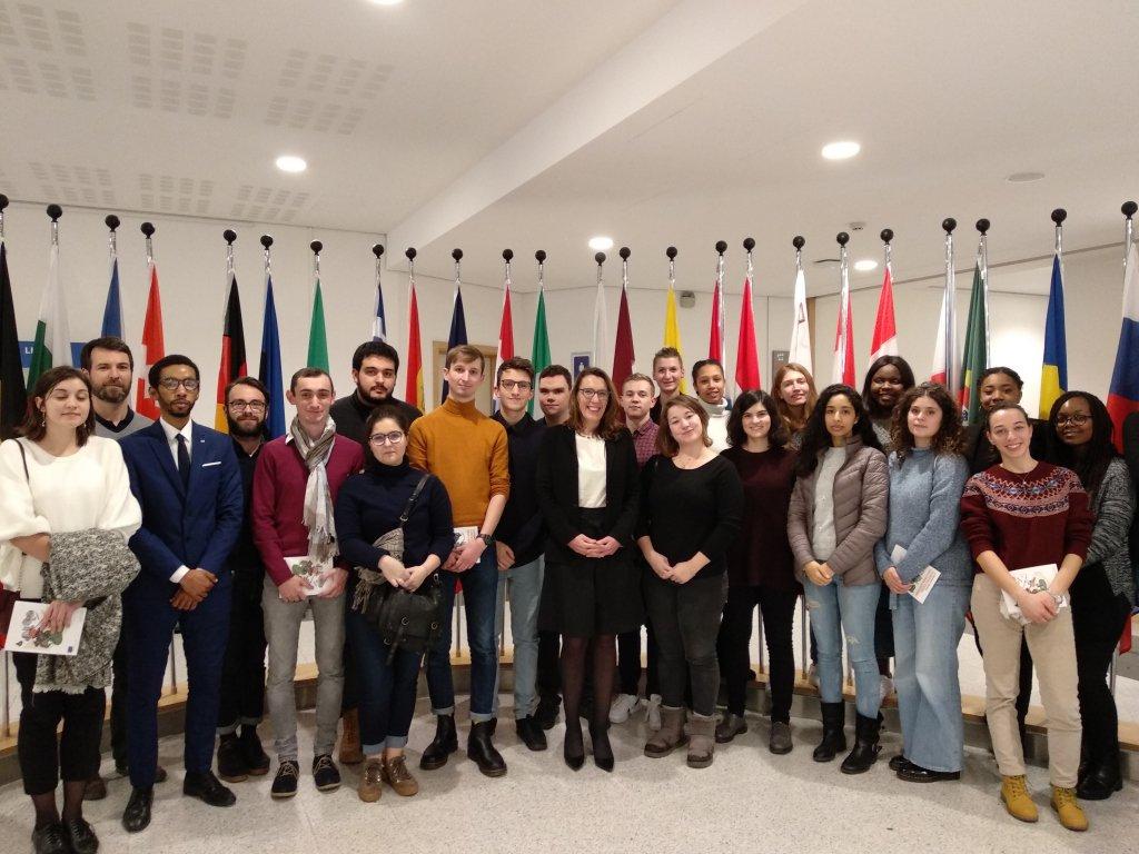 promotion des master 1 communication politique et publique en France et en Europe aux côtés de Christine Revault d'Allonnes-Bonnefoy, députée européenne.