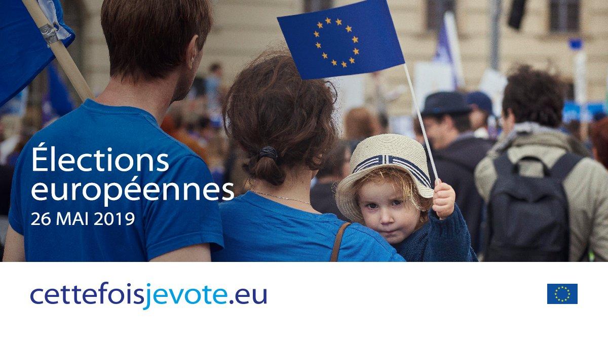 Visuel de la campagne de communication du Parlement européen « cette fois je vote »
