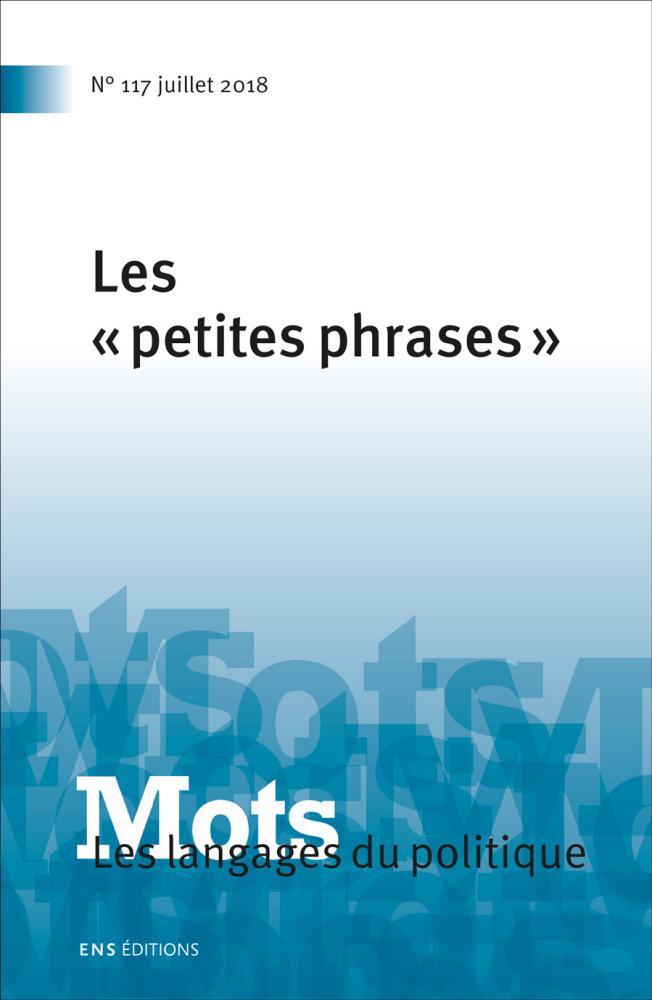 couverture du n° 117 de Mots, les Langages du politique (2018)