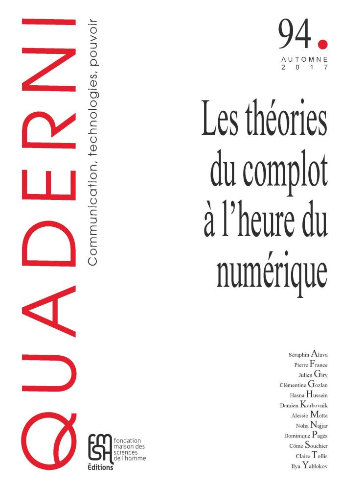 couverture du n° 94 de la revue Quaderni